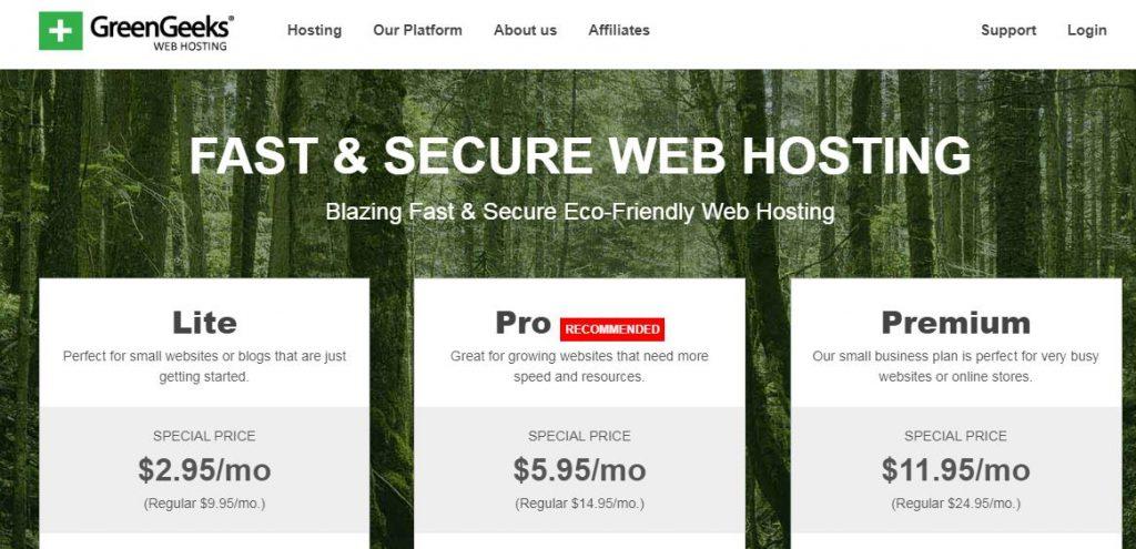 Best WordPress Hosting Company - GreenGeeks